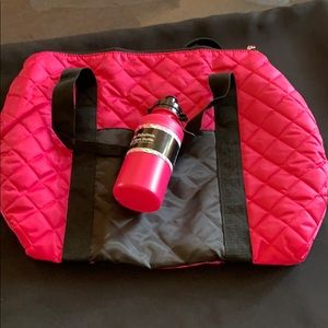 Handbags - Pink overnight gym duffle with water bottle